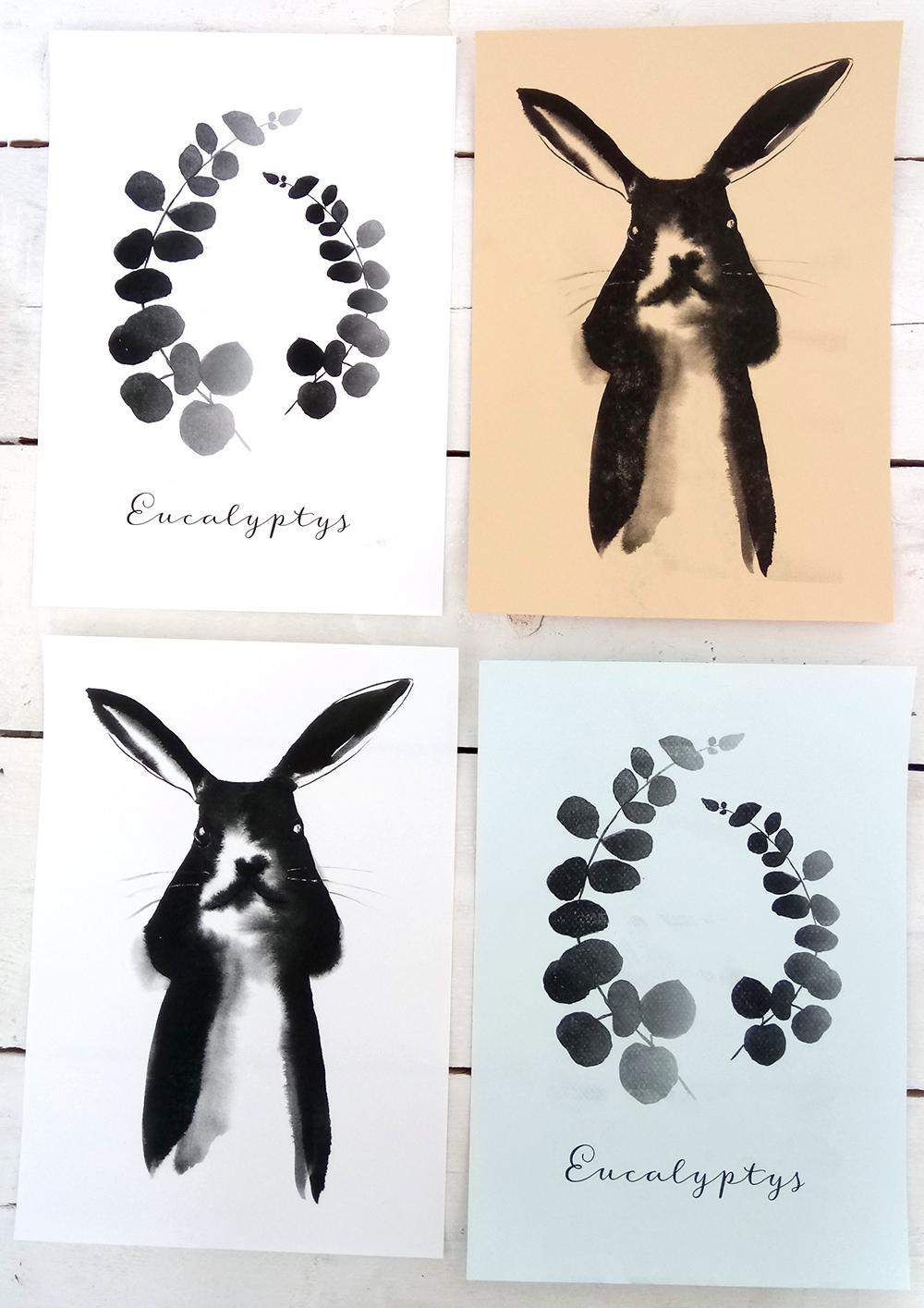 Mustavalkoisia printtejä eri sävyissä